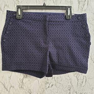 NWT Maurice's Blue & Black Dress Shorts 11/12